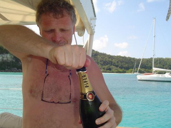 Champagne! à Marie Galante